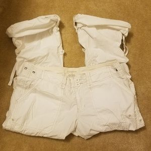 Abercrombie & Fitch white lightweight pants size L